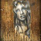Drawing on a door by laurentlesax