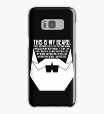 The Beard Creed White Samsung Galaxy Case/Skin