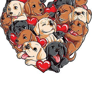 Labrador Heart Valentines Day regalos para los amantes de los perros de LiqueGifts