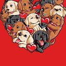 Labrador-Herz-Valentinstag-Geschenke für Hundeliebhaber von LiqueGifts