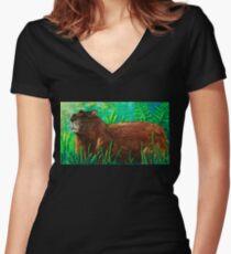 Groundhog Women's Fitted V-Neck T-Shirt