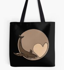 Pluto: Whale and Heart Tote Bag