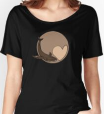 Pluto: Whale and Heart Women's Relaxed Fit T-Shirt