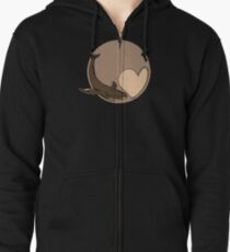 Pluto: Whale and Heart Zipped Hoodie