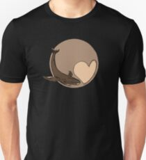 Pluto: Whale and Heart Slim Fit T-Shirt