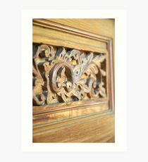 wooden door Art Print
