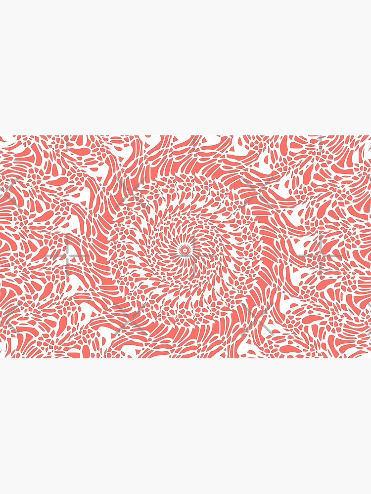 Coral and White Mandala by kellydietrich