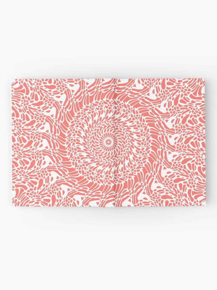 Alternate view of Coral and White Mandala Hardcover Journal