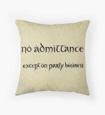 no admittance Throw Pillow