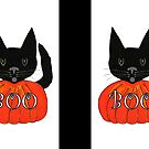 Halloween schwarze Katze von Sartoris Art & Photography