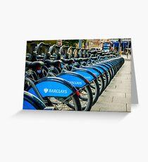 Bicycles London England Greeting Card