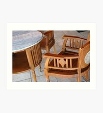 chair and table Art Print