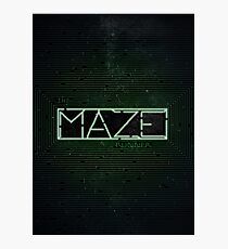 The Darkest Puzzle - The Maze Runner Photographic Print