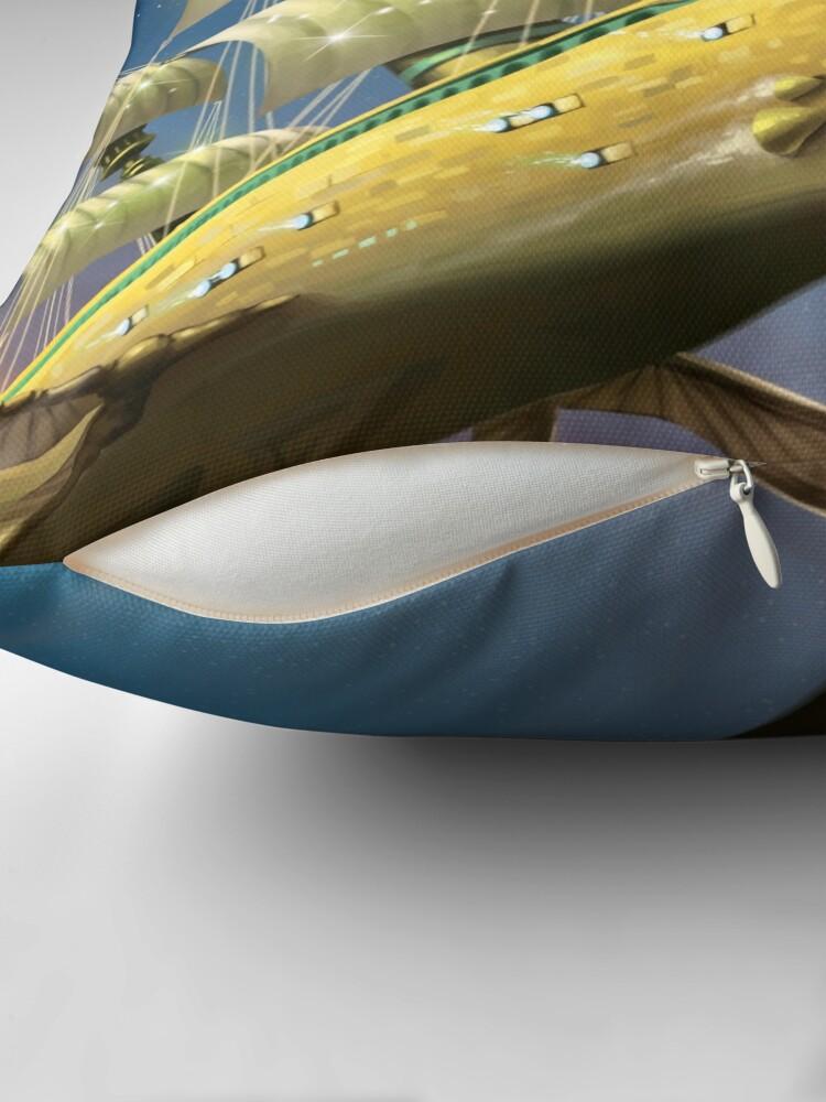 Alternate view of Battleship Philistia Throw Pillow