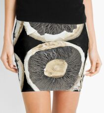 Rows of Mushroom Caps Mini Skirt