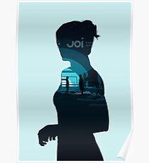 Blade Runner 2049 Joi Silhouette (Blue) Poster
