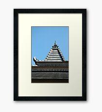 joglo house Framed Print