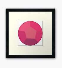 Rose Quartz Gem Framed Print
