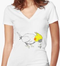 Bird toys Women's Fitted V-Neck T-Shirt