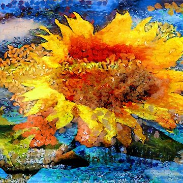 Textured orange  Sunflower by zadiraka
