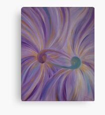"Fine art. Abstract ""Twin flame"". Oil painting Metal Print"