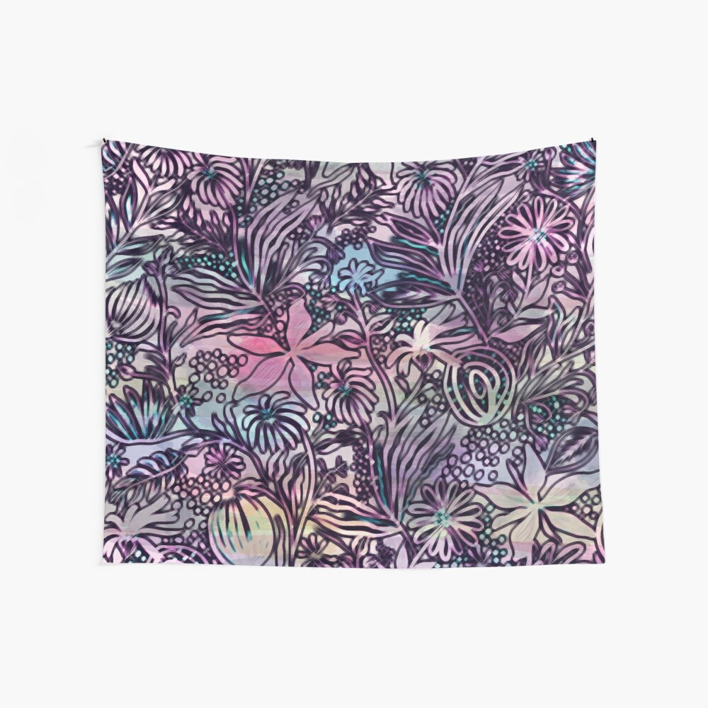 Psychedelic Jungle Floral Flower Power Abstract Print