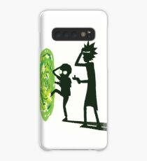 Rick and Morty - Portal Travel (White) Case/Skin for Samsung Galaxy