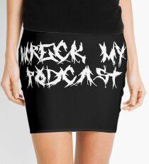 Wreck My Black Death Metal Mini Skirt