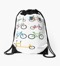 UNITED COLORS OF BICYCLES. Drawstring Bag