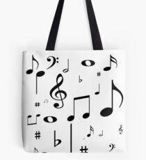 Music notes black Tote Bag
