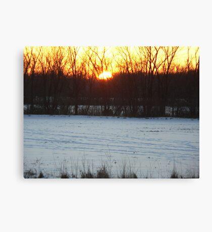 Beautiful sunset photo Canvas Print
