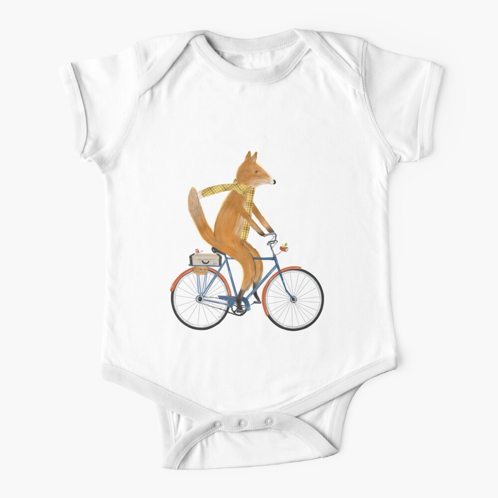 fox bicycle Baby One-Piece