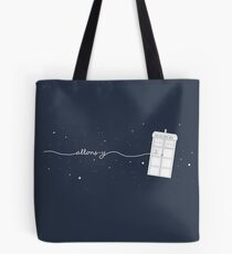 Allons-y to the TARDIS Tote Bag