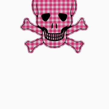 Gingham Skull by TeeArt