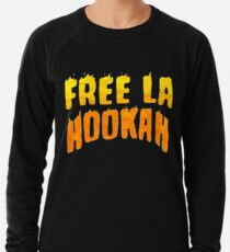 Free La Hookah Bad Bunny T-Shirt Lightweight Sweatshirt