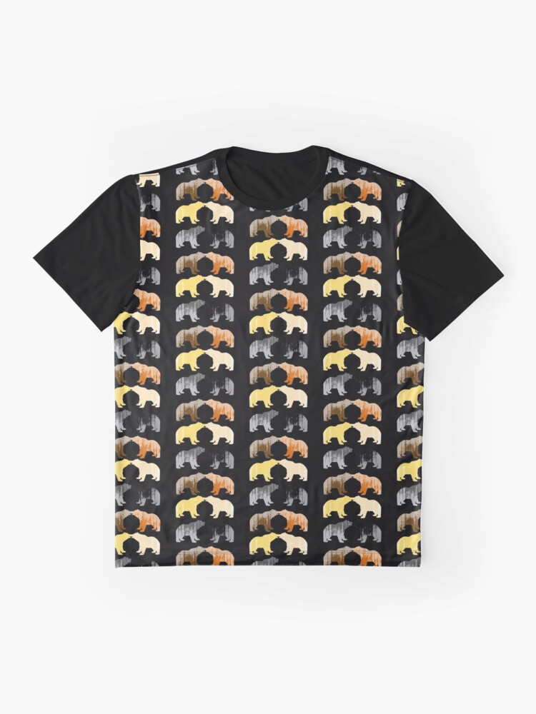 Alternate view of Bear Pride Merch Black Pattern Graphic T-Shirt