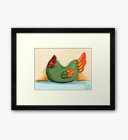 Ceramic Chicken Framed Print