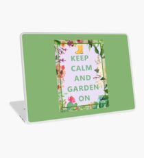 Keep Calm and Garden On Laptop Skin