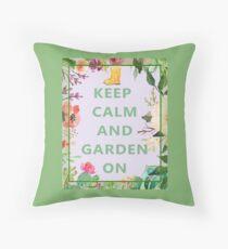 Keep Calm and Garden On Floor Pillow