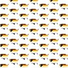 Bear Pride Flag Merch Pattern White by queeradise