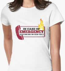 It Crowd Inspired - New Emergency Number - 0118 999 881 99 9119 725 3 - Moss and the Fire Womens Fitted T-Shirt