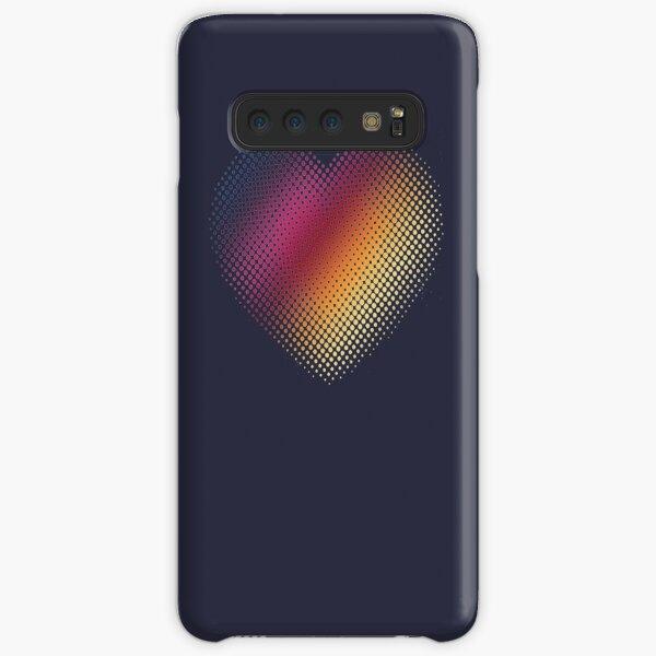 Linear Gradient on Halftone Heart (Evening Blue) Samsung Galaxy Snap Case