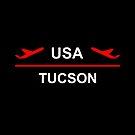 Tucson Arizona USA Airport Plane Dark Color by TinyStarAmerica