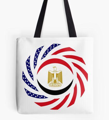 Egyptian American Multinational Patriot Flag Series Tote Bag