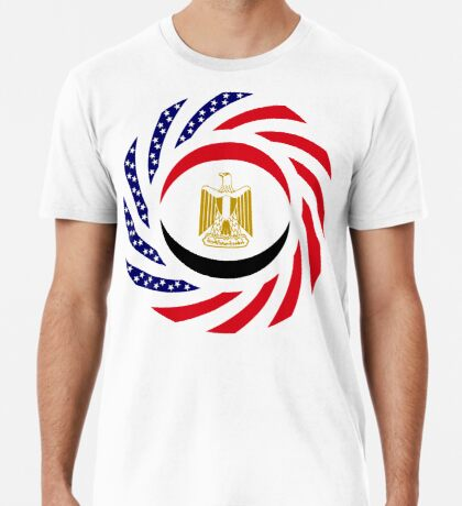 Egyptian American Multinational Patriot Flag Series Premium T-Shirt