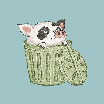 Cerdo manchado en un cubo de sanogawa