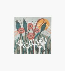 Meadow Breeze Floral Illustration Art Board Print
