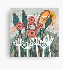 Lienzo Ilustración floral de la brisa del prado