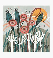 Meadow Breeze Floral Illustration Photographic Print