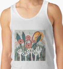 Meadow Breeze Floral Illustration Tank Top